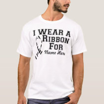 Personalize I Wear a Zebra Ribbon T-Shirt