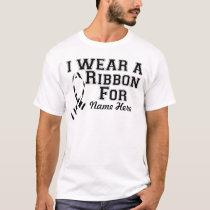 Personalize I Wear a Zebra Ribbon T-Shirt