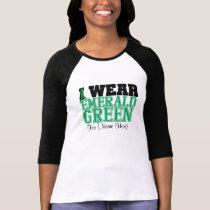 Personalize I Wear Emerald Green Liver Cancer T-Shirt