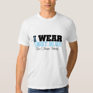 Personalize I Wear Light Blue Prostate Cancer Tee Shirt