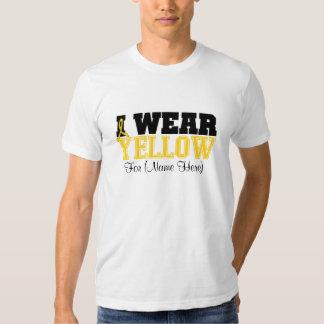 Personalize I Wear Yellow Ribbon Sarcoma T Shirt