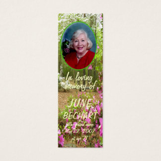 Personalize In Loving Memory Photo Bookmark Mini Business Card