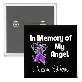 Personalize In Memory Angel Pancreatic Cancer Pin