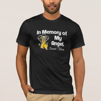 Personalize In Memory of My Angel Childhood Cancer T-Shirt