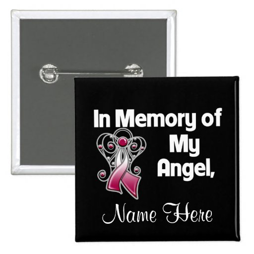 Personalize In Memory of My Angel Head Neck Cancer Pin