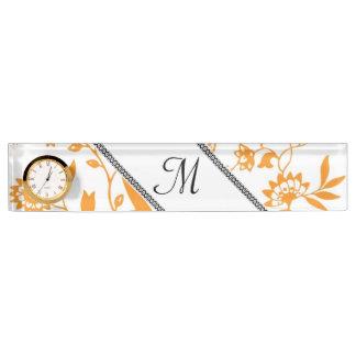 Personalize Information Monogrammed Leaf Vines Art Nameplates
