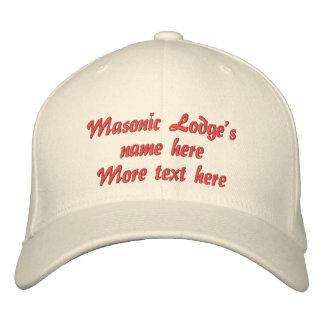Personalize Initials Masonic Lodge Baseball Cap
