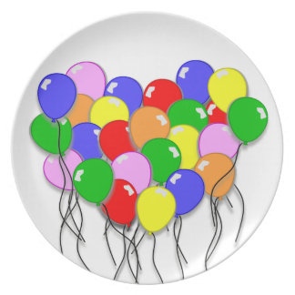 Personalize It - Bunch of Balloons Dinner Plate