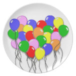 Personalize It - Bunch of Balloons Dinner Plates