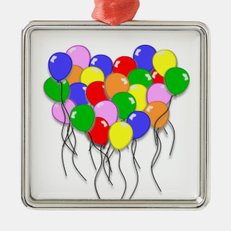 Personalize It - Bunch of Balloons Metal Ornament