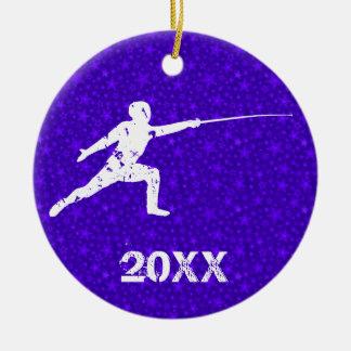 Personalize It, Fencing Ceramic Ornament