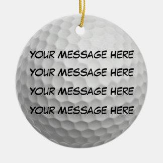 Personalize it, Golf Ball Ceramic Ornament