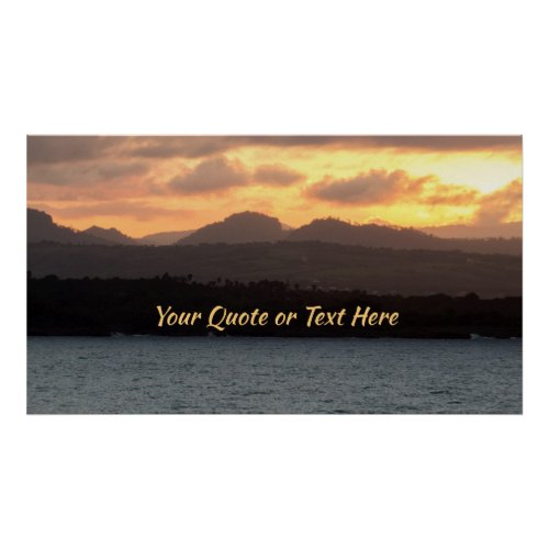 Personalize It  HDR Sunset Poster