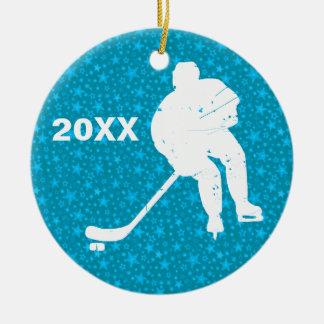Personalize it, Hockey Ceramic Ornament