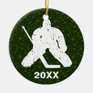 Personalize it, Hockey Goalie Ceramic Ornament