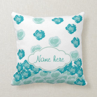 Personalize it! Rose Drops - blue pillows