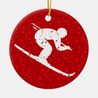 Personalize it, Skier Ornament