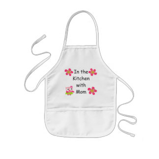 Personalize Kids Apron with Pink Owls and Flowers