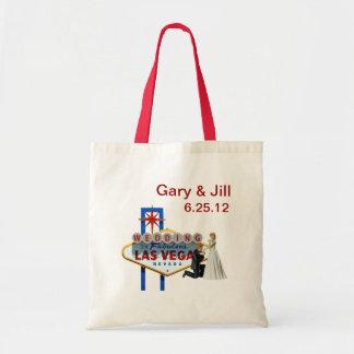 Personalize Las Vegas Wedding Bag, Bride & Groom Tote Bag