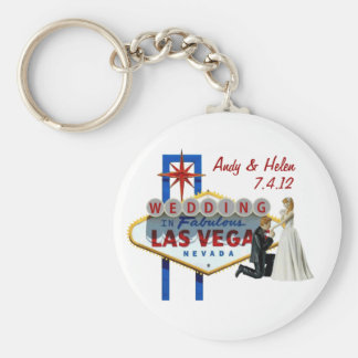 Personalize Las Vegas Wedding Keepsake Keychain