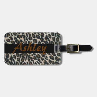 Personalize Leopard Print Band Luggage Tags