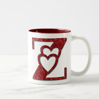 PERSONALIZE LETTER (Z) NAME Two-Tone COFFEE MUG