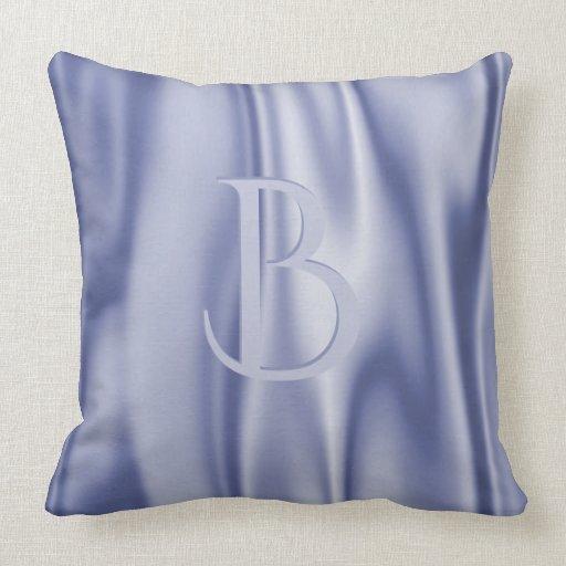 Blue Satin Throw Pillow : Personalize: Light Blue Faux Satin Fabric Throw Pillow Zazzle