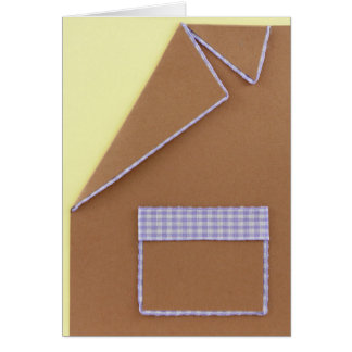 Personalize light brown Birthday blazer Card