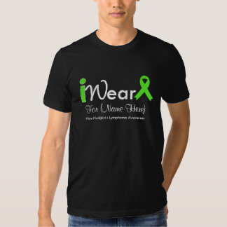 Personalize Lime Green Non-Hodgkin's Lymphoma T Shirt
