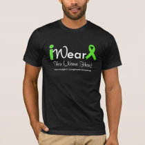 Personalize Lime Green Non-Hodgkin's Lymphoma T-Shirt