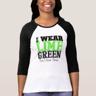 Personalize Lime Green Non-Hodgkin's Lymphoma T Shirts