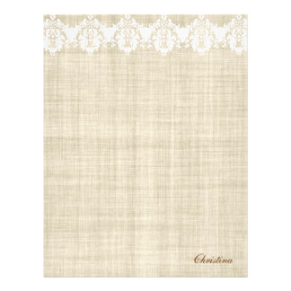 Personalize Linen & Lace Pretty Flyer