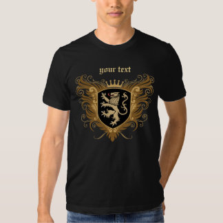Personalize Lion Crest [dark] Tee Shirt