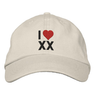 Personalize Love with your 2 letter monogram! Embroidered Baseball Hat