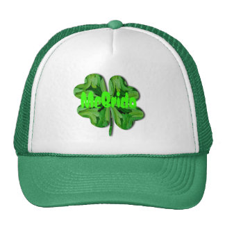 (Personalize) Lucky Charm - Four Leaf Clover Trucker Hat