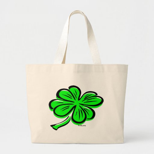 Personalize Lucky Four Leaves Clover Tote Bag