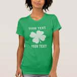 Personalize Lucky Shamrock T-Shirt