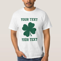 Personalize Lucky Shamrock T-Shirt
