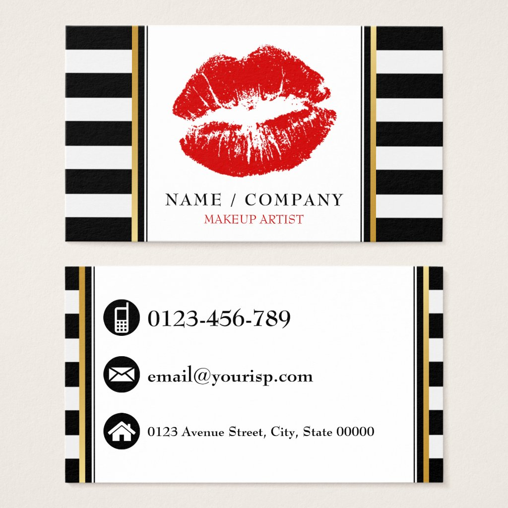 Personalize Makeup Artist Business Card