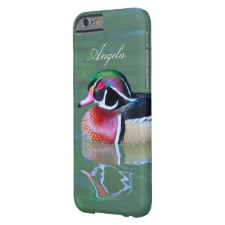Personalize Male Wood Duck on pond Barely There iPhone 6 Case