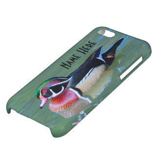 Personalize Male Wood Duck on pond iPhone 5C Cases