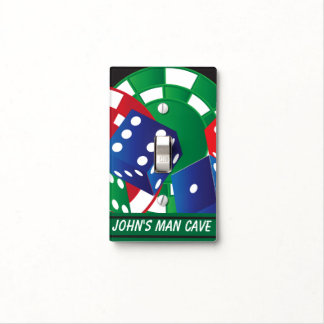 Personalize Man Cave Poker Game Light Switch Cover