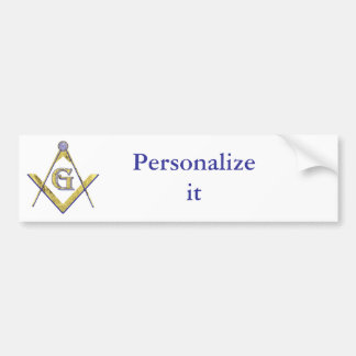 Personalize Masonic and Shriner Emblems Bumper Stickers