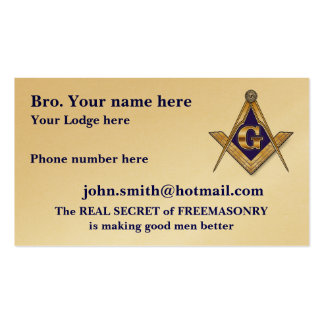 Personalize Masonic and Shriner Emblems Business Cards