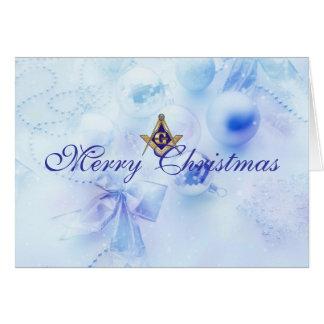 Personalize Masonic Christmas Greetings Card