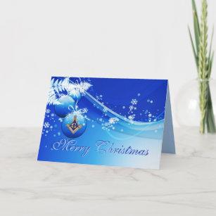 Personalize Masonic Christmas Greetings Holiday Card