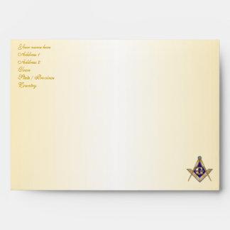 Personalize Masonic Emblem Christmas Greeting Card Envelope