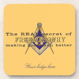 Personalize Masonic Emblem Coaster