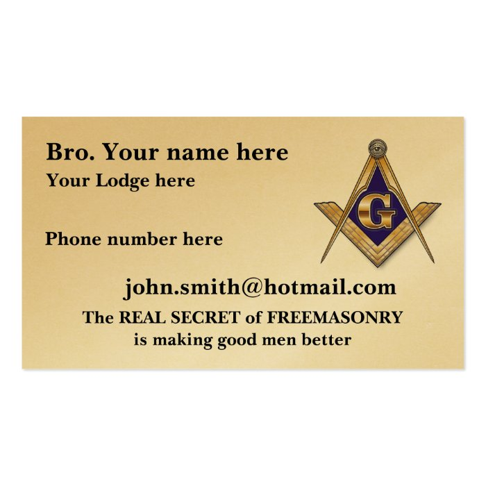 personalize masonic lodge business card templates - 28 images - 79 ...