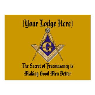 Personalize Masonic Lodge Postcards